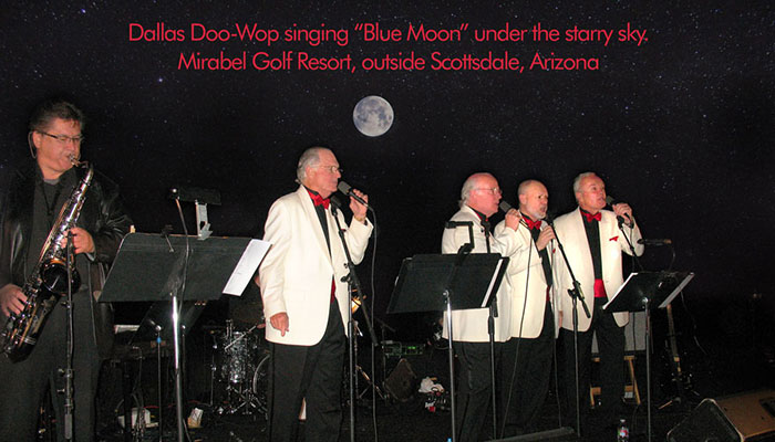 DALLAS DOO-WOP performing at the Mirabel Golf Resort outdoor award dinner in Scottsdale, Arizona