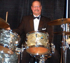 Mark Roberts, drummer for Dallas Doo-Wop
